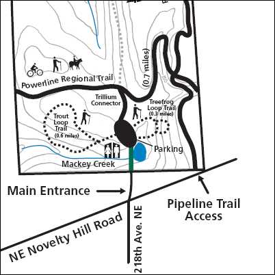 Redmond trail map: Watershed Preserve