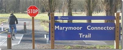 Marymoor Connector Trail bicyclist