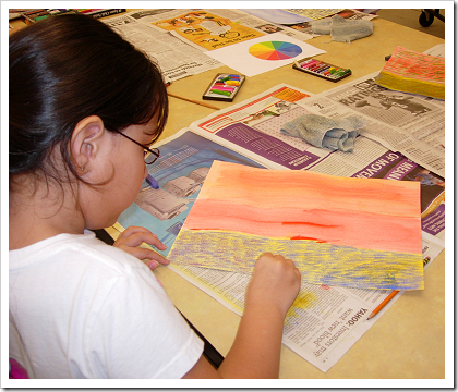 Inspiring Art: student creating art