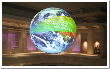 Microsoft Visitor Center: globe