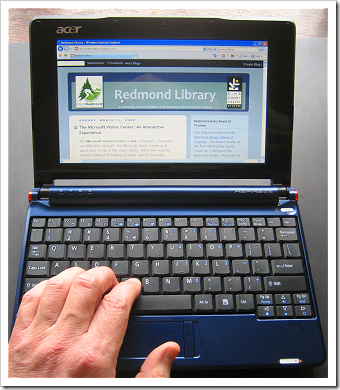 Acer Netbook: keyboard