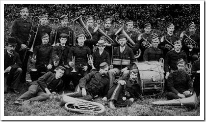 Scottish colliery brass band - 1890