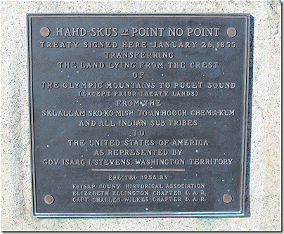 Point No Point: treaty marker