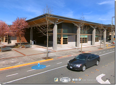 Bing Maps: Streetview of  Redmond Library