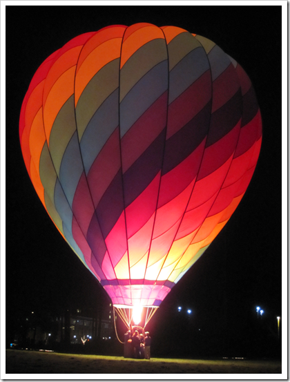 Click for larger view of Redmond Lights balloon glow