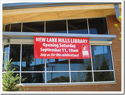Lake Hills Library: large windows bring in plenty of light