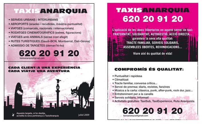 Taxistas madrileños en huelga Taxisanarquia09