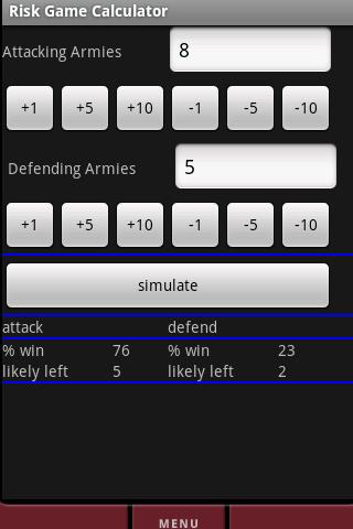 Risk Game Calculator Full