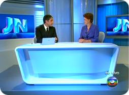 Dilma Rousseff no JN - 01/11/2010
