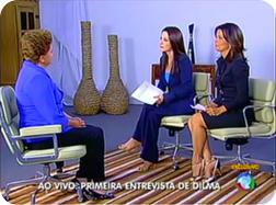 Dilma Rousseff no Jornal da Record -  01/11/2010