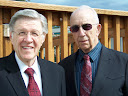 Pastor Laurence Justice with Pastor W.L. Tullos at Landmark Baptist Church in Anchorage, Alaska