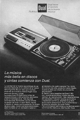 Tornamesa y casetero 1975