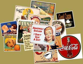 View Vintage tin art