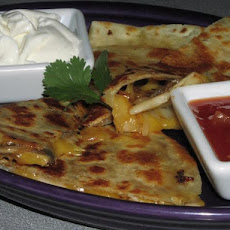 Simple Onion Mushroom Quesadillas