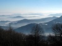 Pogled na meglice z vrha
