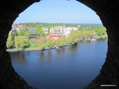 Вид из окна крепости Олавинлинна