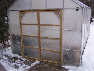 The Adventures of Bigelow Brook Farm: New doors on the greenhouse on