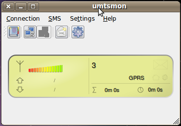 Koneksi huaweii dengan UMTSMon di Linux Ubuntu