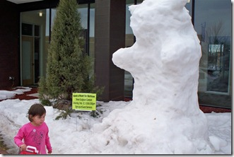 Monticello CC Snow Sculptures