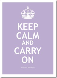 Keep Calm Lilas