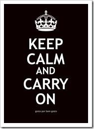 Keep Calm Preto
