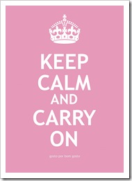 Keep Calm Rosa Bebe
