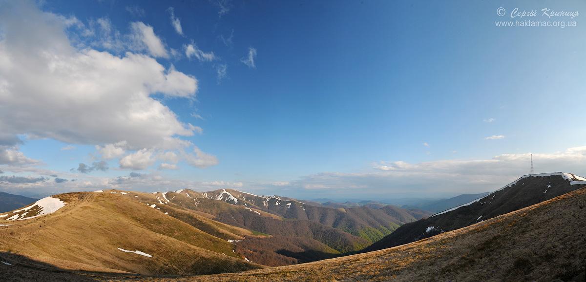 панорама з перешийку перед Топазом