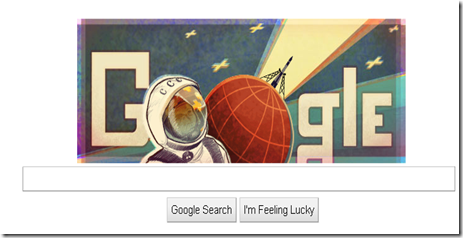 new,google,news,google doodle,celebrate,50th anniversary,yuri gagarin,russia,first man in space,google logo,google search engine,new doodle 2011,flash logo,flash doodle,2011,google space doodle
