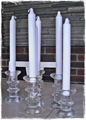 6 lysestaker i glass