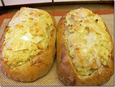 Lemon and Basil Eggs over Foccacia Bread