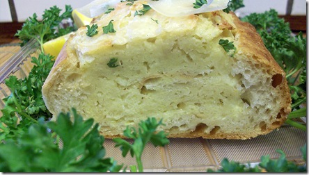 Lemon and Basil Eggs over Foccacia Bread