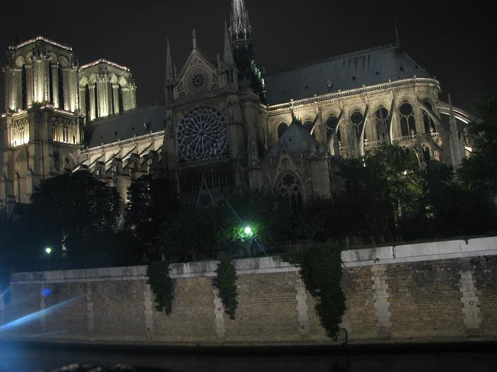 notre dame at night paris france