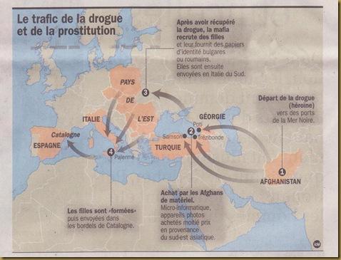 Mapa dels trafics de prostitucions segon la DDM