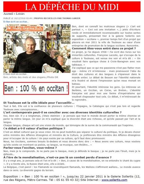 Sollertis Ben 100% occitan Tolosa decembre 2010