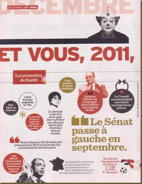 Umor francés a prepaus de la politica en 2011