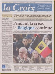 Portada de La Croix Belgica