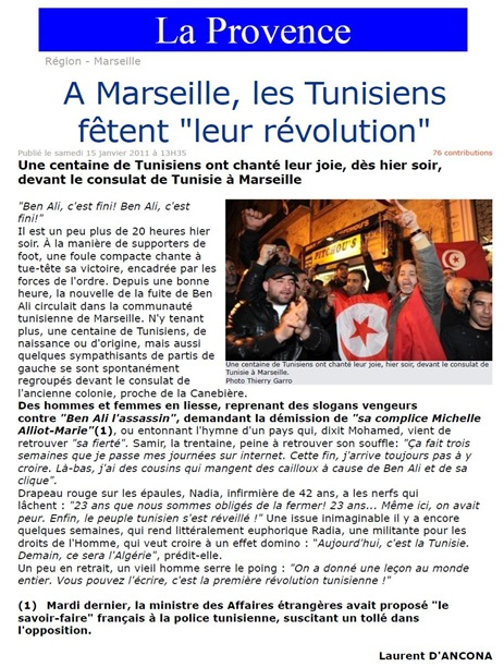 Tunísia Marselha e la revolucion jasmina LaProvence 150111
