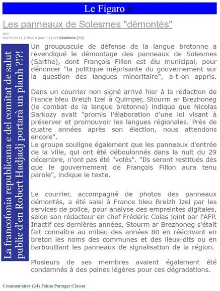 solesmes vilatge tranquil de Sarthe Le Figaro 040111