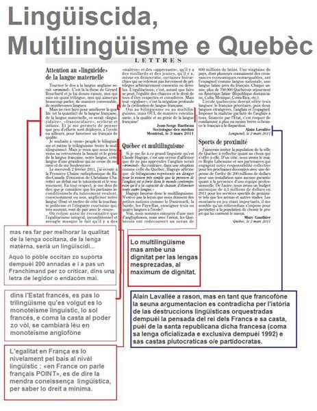 Lingüiscida Multilingüisme Quebèc