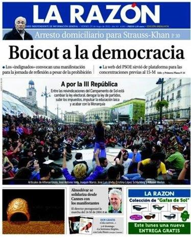 Portada La Razón 200511