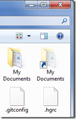"Screenshot of Windows 7 Explorer showing two ""My Documents"" folders"