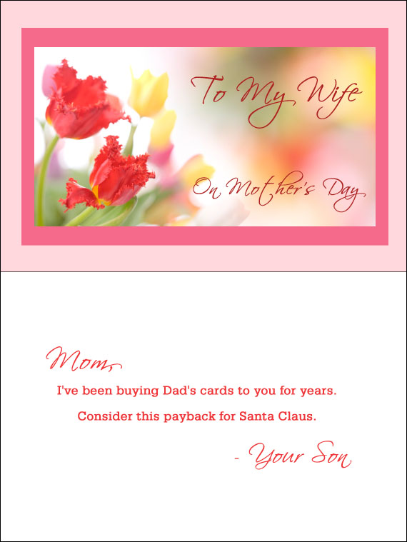 If Men Wrote Mothers Day Cards