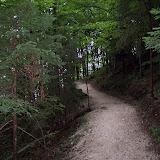 Vandringsled ovanför Berghof-ruinerna
