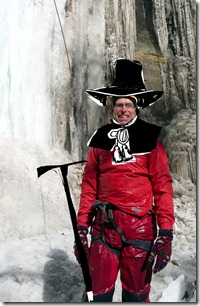 pilgrim with ice axe