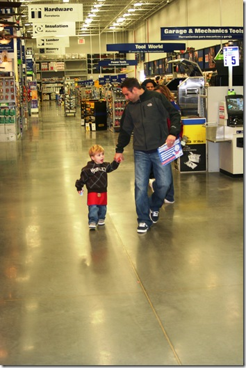 Lowe's with Daddy & Slickpaw 025