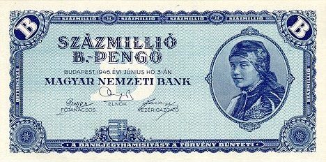 The 100 million b.-pengő note