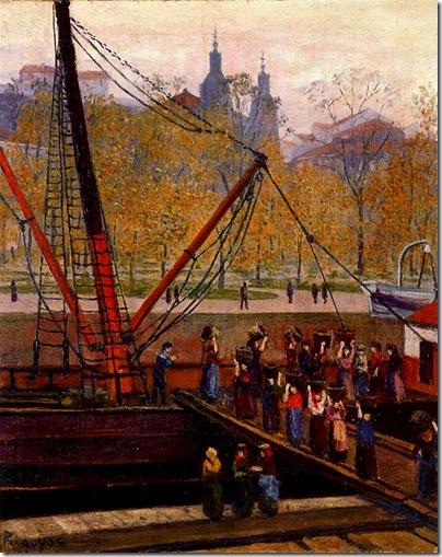 Darío de Regoyos -Cargadoras del Muelle del Arenal