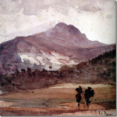 Darío de Regoyos -Monte La Rhune 1886
