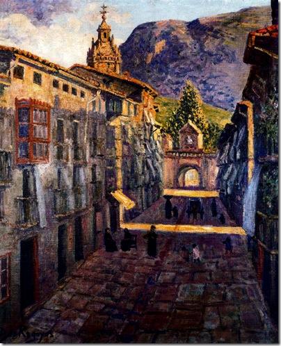 Darío de Regoyos -Artecalle  Durango 1905