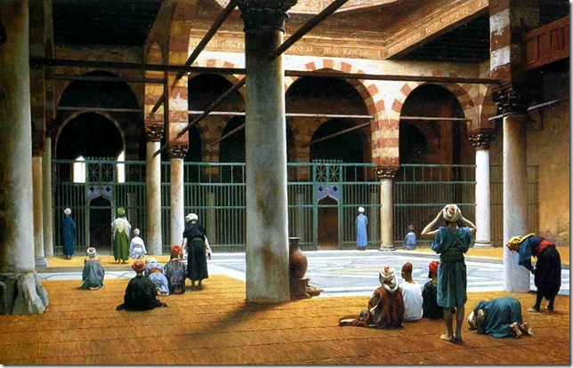 JEAN-LEON-GEROME-INTERIOR-OF-A-MOSQUE